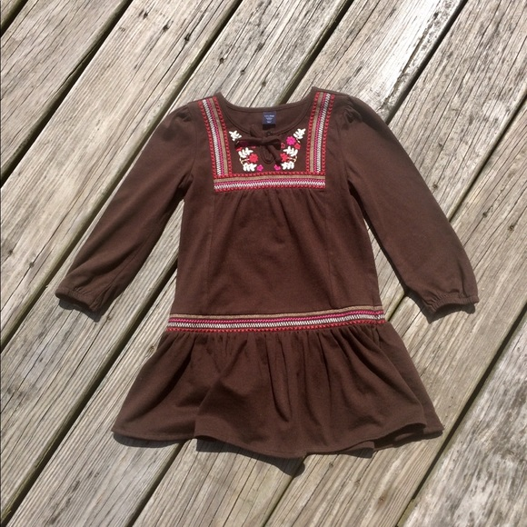 Baby Gap Toddler Embroidered Boho Peasant Dress